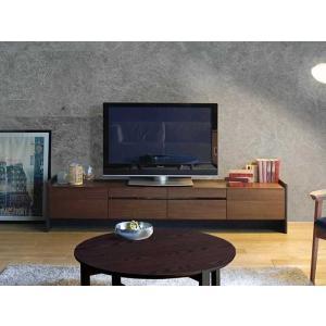 ウォールナット Stuck スタック テレビボード240RN W2400×D445×H440 セラウッド塗装 オーク材ON色あり 大川製|ekaguya