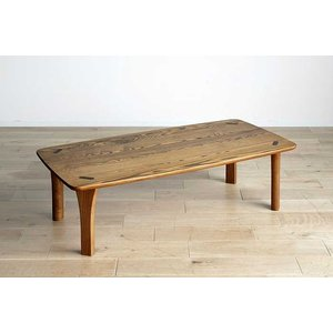 極 しゃもじ リビングテーブル イエローオーカー色 YOW色 W1200×D600×H360 本体色選択可 高品質国産 ekaguya