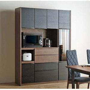 UNIK ユニックレンジ146BL/CH ブラック/ショコラ W1460×D462×H2000 タモ材 家具産地大川製|ekaguya