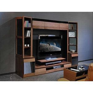 サラウンド対応 ウォールナット VAICE ヴァイス2400TVset 引出&160TV&ガラス W2406×D556×H1750 大川製|ekaguya