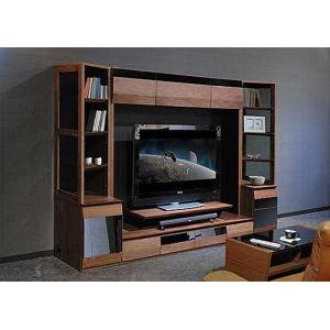 サラウンド対応 ウォールナット VAICE ヴァイス2600TVset 引出&180TV&ガラス W2606×D556×H1750 大川製|ekaguya
