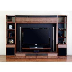 サラウンド対応 ウォールナット VAICE ヴァイス2600TVsetRN 180TV&ネット×2 W2606×D556×H1750 大川製|ekaguya