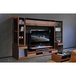 サラウンド対応 ウォールナット VAICE ヴァイス2800TVsetRN 200TV&ガラス×2  W2806×D556×H1750 大川製|ekaguya