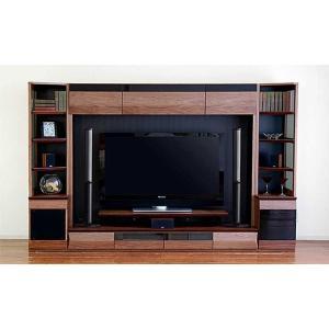 サラウンド対応 ウォールナットVAICE ヴァイス2800TVset 引出&200TV&ネット W2806×D556×H1750 大川製|ekaguya