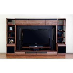 サラウンド対応 ウォールナット VAICE ヴァイス2800TVsetRN 200TV&ネット×2 W2806×D556×H1750 大川製|ekaguya