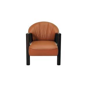コンパクトサイズ 厳選国産 Vigor 1P ビガー 1人用 ソファー 革張り W690×D780×H780×SH420 革色・木部色が選べる 受注生産|ekaguya