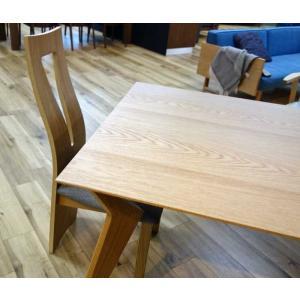 CBL464椅子TN/WH×4脚+オーク VORD ヴォルド160OCテーブルW160×D90×H70セラウッド塗装 椅子木部・座面生地が選べる大川製|ekaguya