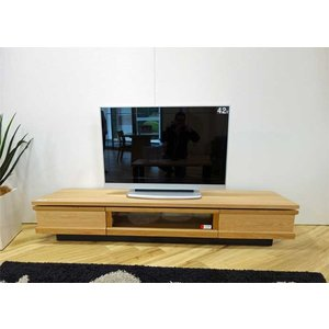 ホワイトオーク材 ZIO210TVナチュラル ジオ210TV ON色 W2100×D445×H355 家具産地大川製|ekaguya