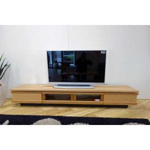 ホワイトオーク材 ZIO240TVナチュラル ジオ240TV ON色 W2400×D445×H355 家具産地大川製|ekaguya