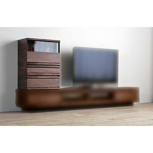ウォールナット材 ZIO60Cabiブラウン ジオ60キャビRN色 W600×D379×H820 家具産地大川製|ekaguya