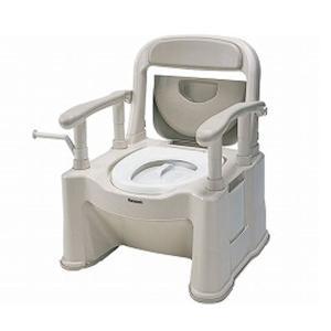 パナソニック 樹脂製ポータブルトイレ 座楽SPシリーズ 背もたれ型SP 標準便座タイプ  VALSPTSPBE 介護用品 ekaigonavi