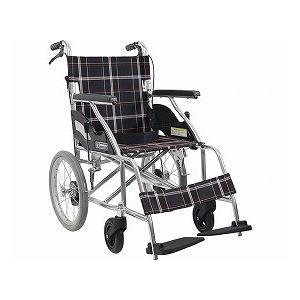 (代引き不可)アルミ製標準車いす 介助用 KV16-40SB A22(黒チェック) カワムラサイクル 介護用品