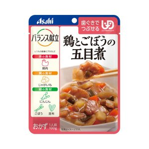 アサヒグループ食品 介護食 区分2 バランス献立 鶏とごぼうの五目煮 188380  100g (区分2 歯ぐきでつぶせる) 介護用品 ekaigonavi