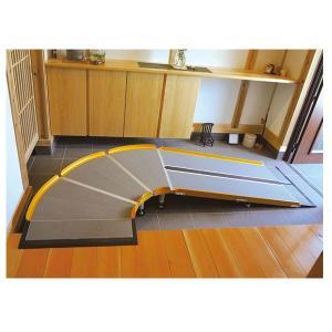 (代引き不可) LスロープFK1000 微笑の杜若 643-220 長さ200cm シコク (車椅子 スロープ 段差解消スロープ 段差スロープ 介護) 介護用品 ekaigonavi