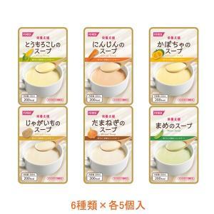 栄養支援スープ 詰合せ 568365 6種類×各5個入 ホリカフーズ (介護食 レトルト スープ 栄養 補給食 流動食) 介護用品|ekaigonavi