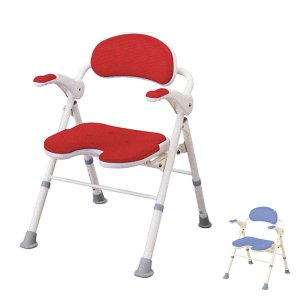 アロン化成 安寿 折りたたみシャワーベンチ TU U型座面 535-467 535-468 (介護用 風呂椅子 介護 浴室 椅子 チェア 折りたたみ 肘掛け椅子) 介護用品|ekaigonavi