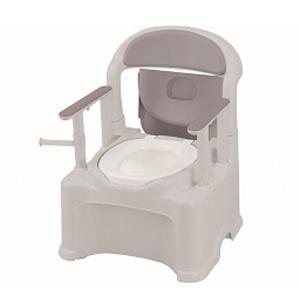 ポータブルトイレ きらく P2シリーズ 47530 標準便座 PS2型 リッチェル (ポータブルトイレ 介護 トイレ 肘付き椅子 プラスチック 椅子) 介護用品 ekaigoshop2