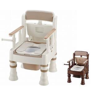 ポータブルトイレ きらく Mシリーズ ミニでか MY型 やわらか便座 リッチェル (ポータブルトイレ 介護 トイレ 肘付き椅子 便座クッション) 介護用品 ekaigoshop2