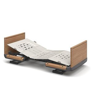 (代引き不可)楽匠Z 1モーション 木製ボード 脚側 高 スマートハンドル付 / KQ-7103S 83cm幅 ミニ  パラマウントベッド  介護用品 ekaigoshop2