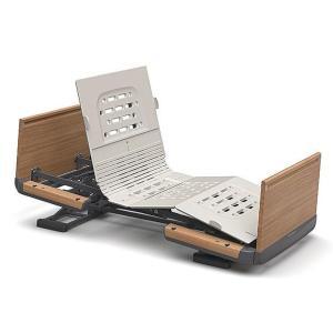 (代引き不可)楽匠Z 2モーション 木製ボード 脚側 高 スマートハンドル付 / KQ-7213S 83cm幅 レギュラー  パラマウントベッド 介護用品|ekaigoshop2