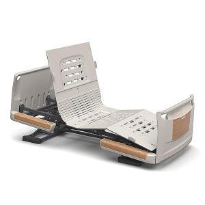 (代引き不可)楽匠Z 2モーション 樹脂ボード 木目調 スマートハンドル付 / KQ-7221S 91cm幅 ミニ  パラマウントベッド 介護用品|ekaigoshop2