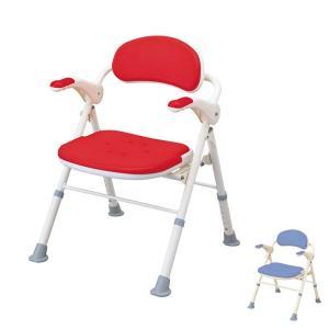 アロン化成 安寿 折りたたみシャワーベンチ TS 角型座面  535-465  535-466 (介護用 風呂椅子 介護 浴室 椅子 チェア 折りたたみ 肘掛け椅子) 介護用品