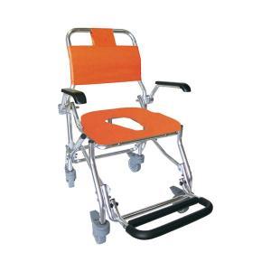 (代引き不可) シャワーキャリー LX-II No.5022 睦三 (お風呂 椅子 浴用椅子 シャワーキャリー 背付き 介護) 介護用品