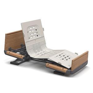 (代引き不可)楽匠Z 2モーション 木製ボード 脚側 低 スマートハンドル付 / KQ-7212S 83cm幅 レギュラー パラマウントベッド 介護用品|ekaigoshop