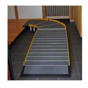 (代引き不可)Lスロープ 1500 643-115 シコク (車椅子 スロープ 段差解消スロープ 屋外用 段差スロープ 介護 スロープ 介護 用 スロープ) 介護用品 ekaigoshop