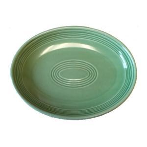 プラター (24.1cm) グリーン (楕円皿) 国産...