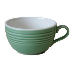 スープカップ カフェラテカップ グリーン 国産/食洗機ok/レンジok/