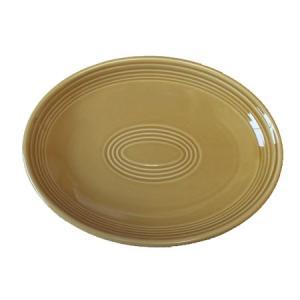 プラター (26.0cm) アンバー (楕円皿) 国産...