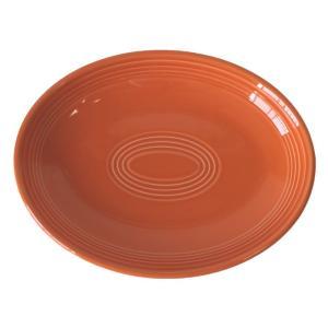 プラター (28.5cm)オレンジ (楕円皿) 国産...