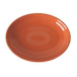 プラター (24.1cm) オレンジ (楕円皿)  国産...