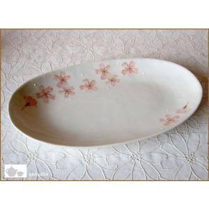 桜 楕円形パスタ皿