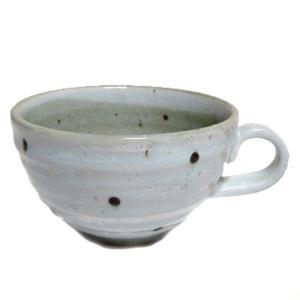スープカップ 粉引水玉
