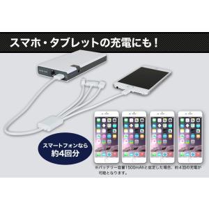 ジャンプスターター 充電式 非常用バッテリー 8000mAh モバイル対応|ekisyououkoku|03