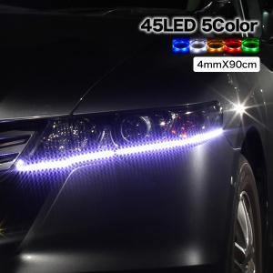 LEDテープ 高輝度SMD 90cm/45LED 極細4mm幅 防水|ekisyououkoku