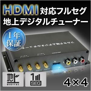 フルセグチューナー  4×4  車載用 地デジチューナー  車載用 HDMI