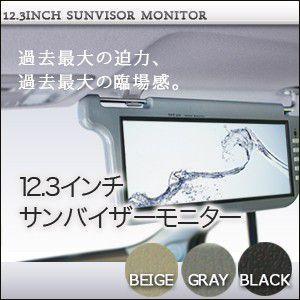 サンバイザーモニター 12.3インチ 左右セット|ekisyououkoku