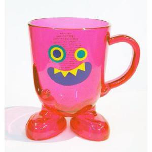 モンスター マグカップ/ピンク/プラスチック製/雑貨 ekodanosanzoku