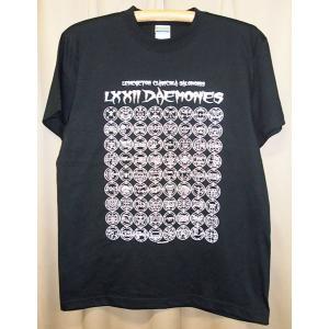 ソロモン王の鍵 72悪魔の印章 シジル 半袖Tシャツ/ブラック×オフホワイト/封印バッジ付/LBDE LIMITADA|ekodanosanzoku|02