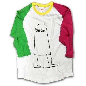 メジェド様 七分袖ベースボールシャツ/LBDE LIMITADA|ekodanosanzoku