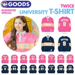 【即日発送】【 TWICE UNIVERSITY T-SHIRT 】 TWICE RUN 20X20...