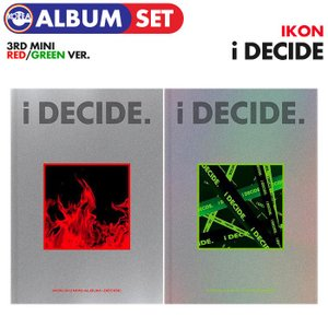 【ポスターなしで格安、即日発送】【 RED + GREEN 2種セット / iKON ミニ3集 アルバム i DECIDE 】 アイコン YG CD MINI ALBUM|ekorea-y