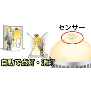 LED電球 E26 人感センサー付き 7W 自...の詳細画像1