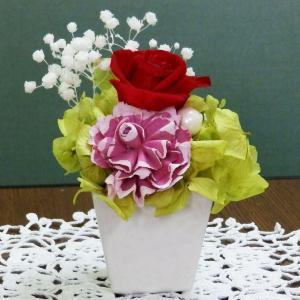 プリザ(スクエアレッド)贈り物 プリザーブドフラワー(真赤なバラ)ギフトにおすすめ 当店いちおしの一品|ekoukai