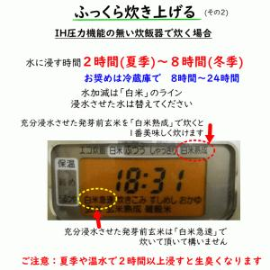 無肥料栽培 発芽前玄米2Kg | 無農薬 福岡県産 ひのひかり 0.5分づき米|ekubo|09