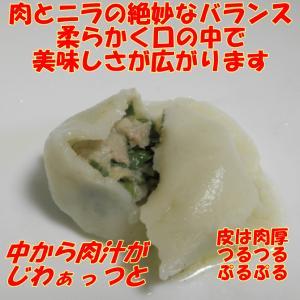 にら 水餃子1Kg 冷凍 // 香辣醤 スープ付|ekubo|05