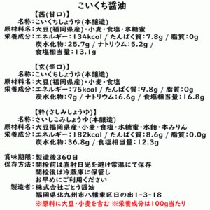九州 醤油 レターパックセット | しょうゆ 200ml×3本|ekubo|02